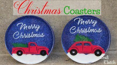 Photo of DIY Vintage Truck & Christmas Tree Coasters | Another Coaster Friday | Craft Klatch – Craft Klatch
