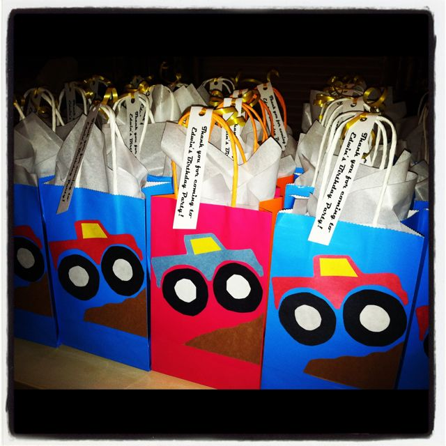 DIY Monster Truck Party Favors!   She's Crafty   Pinterest ...