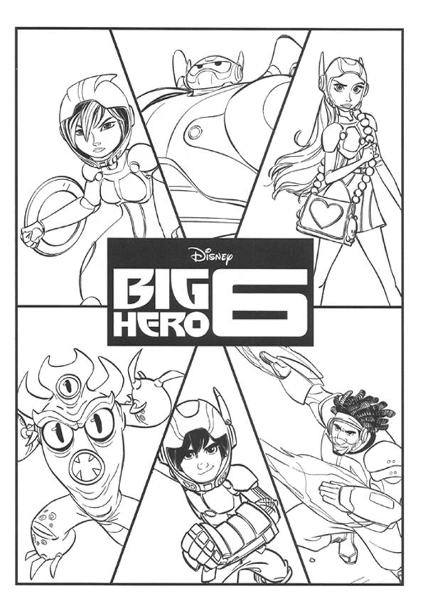 colorear personajes big hero 6colorear personajes big hero 6