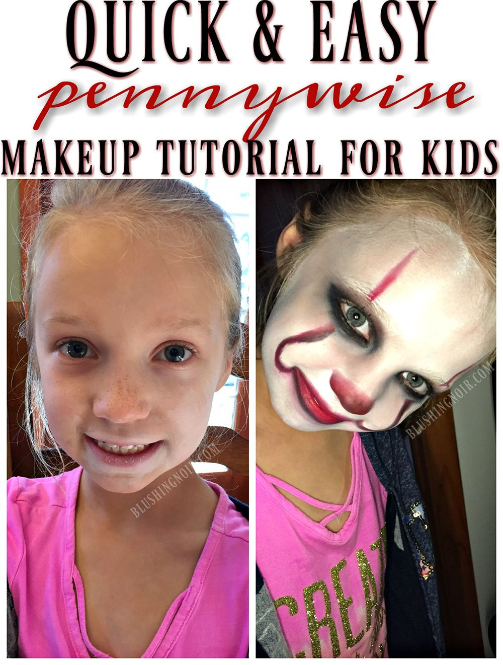 it movie pennywise makeup tutorial for kids | beauty blogger love