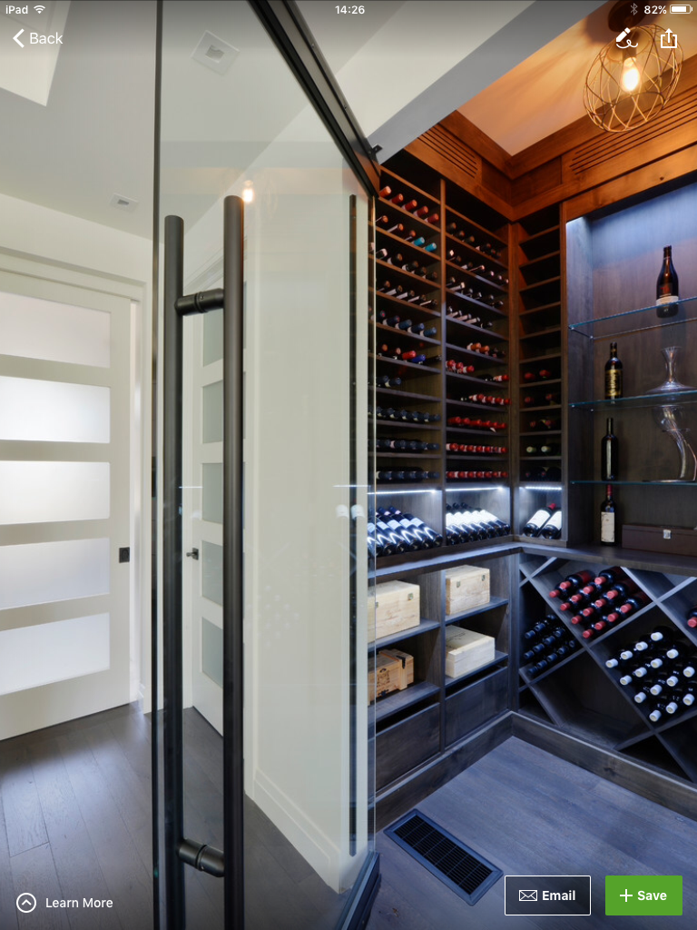 Idea By Judith Ball On Caveau Home Wine Cellars Contemporary