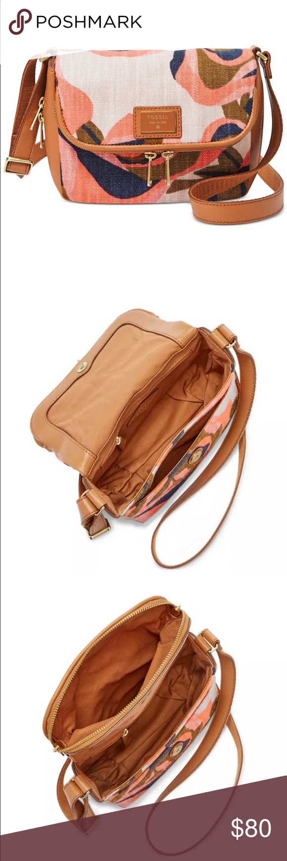fossil preston floral SMALL new Fossil Bags Crossbody Bags