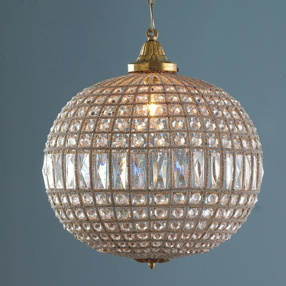 Vintage crystal ball chandelier for the home pinterest crystal vintage crystal ball chandelier arubaitofo Images