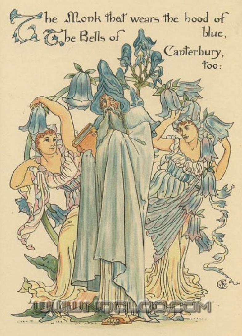 Flora's Feast (1889) p. 27 by Walter Crane (A Fairy's
