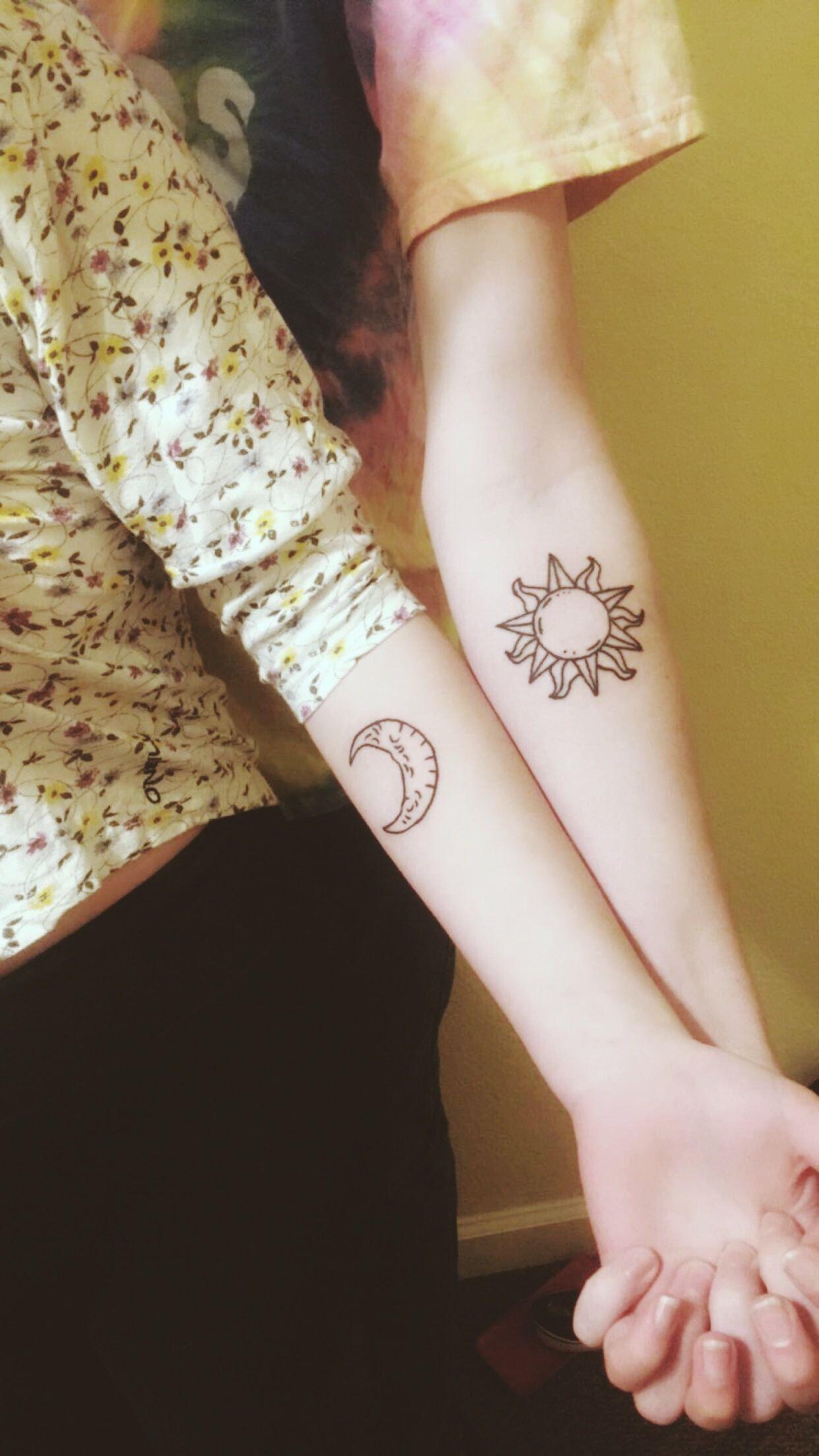 Couples Tattoo Sun And Moon Tattoo Tattoos Tattoos Sun Tattoos