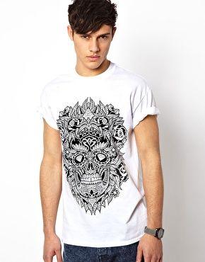 Bild 1 von Abuze London – T-Shirt mit Azteken-Kopf