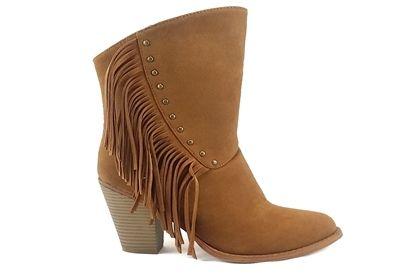 #Betanifootwear #women #Fringe #bootie . #Features 3 1/2 inch #thick #heel, #fringe detail and #adjustable side #zipper. It has a very #Western #look #betani www.betaniwholesale.com