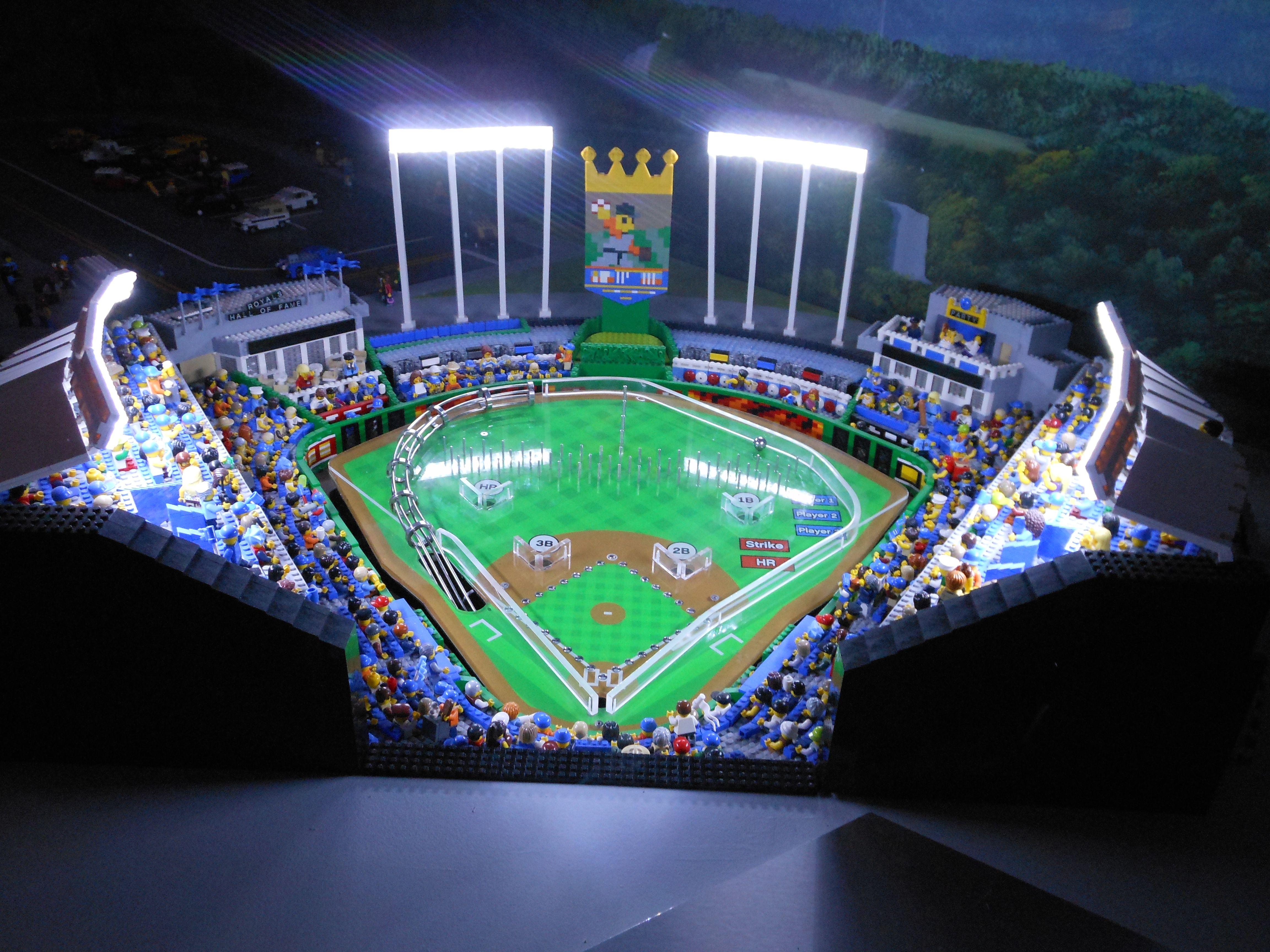 Kauffman Stadium in lego form. | Sports | Pinterest | Lego und Gebäude