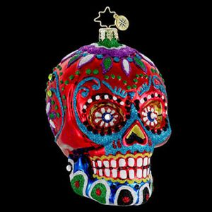 Christopher Radko Day of the Dead ornament. WANT!