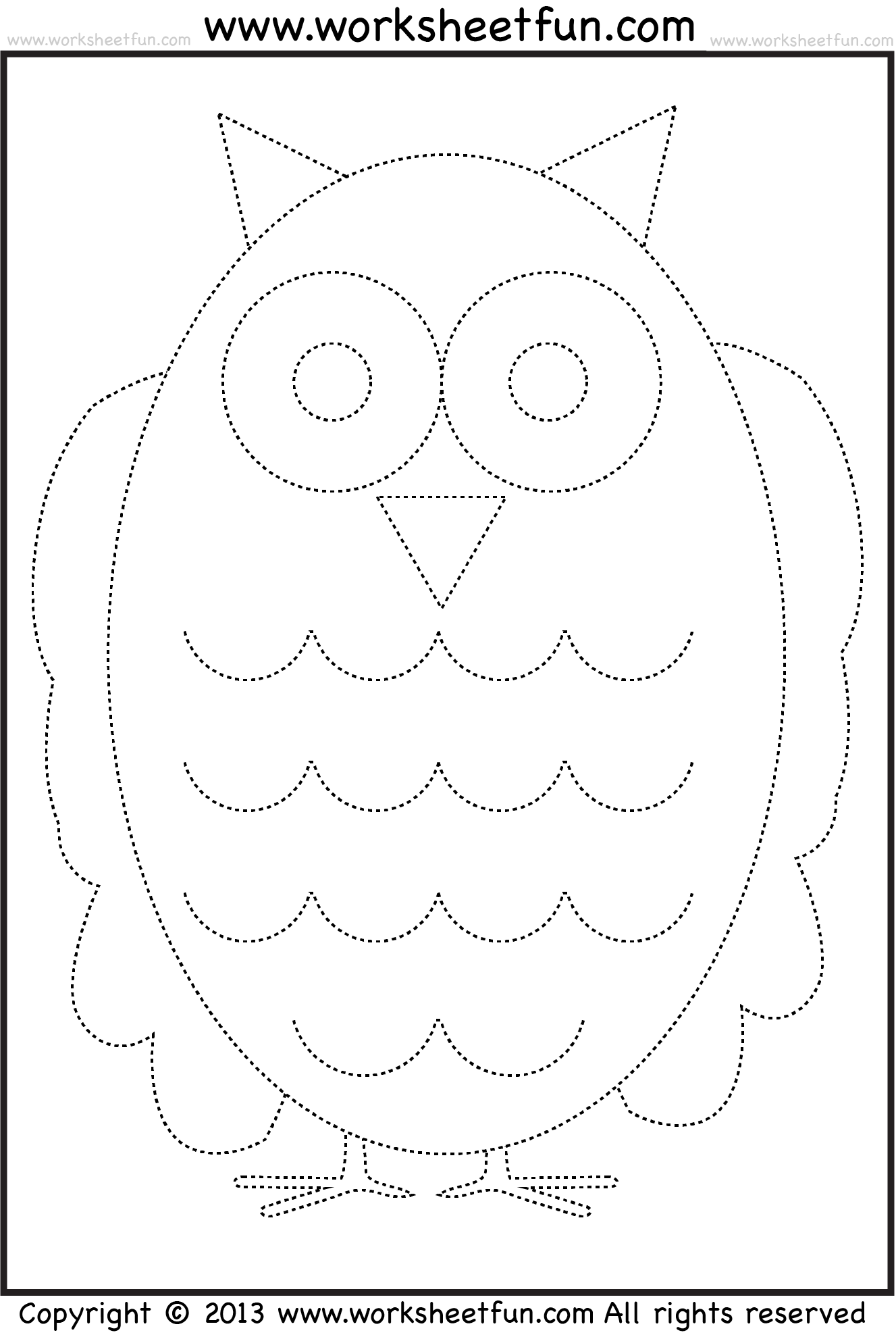 worksheet Tracing And Colouring Worksheets by far the coolest free website for education ive seen owl tracing and coloring 4 halloween worksheets printable worksheets