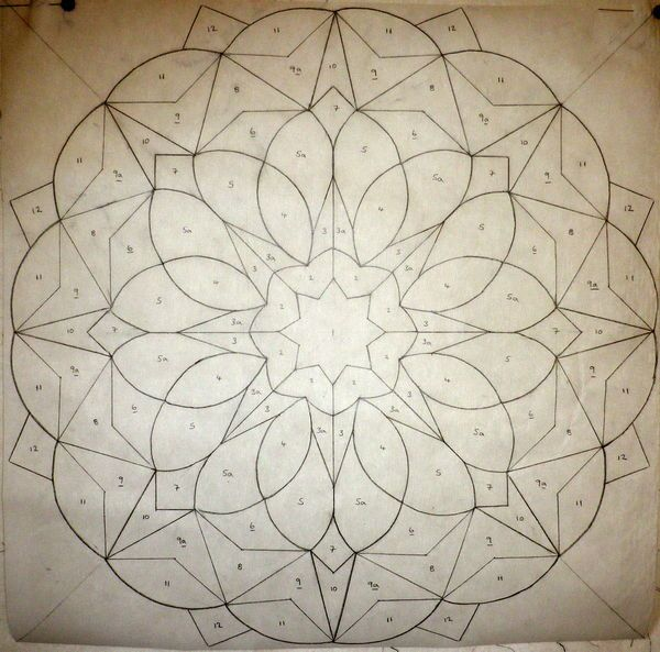 quilt pattern - would be great on an 8-point star. Could adapt ... : mandala quilt - Adamdwight.com