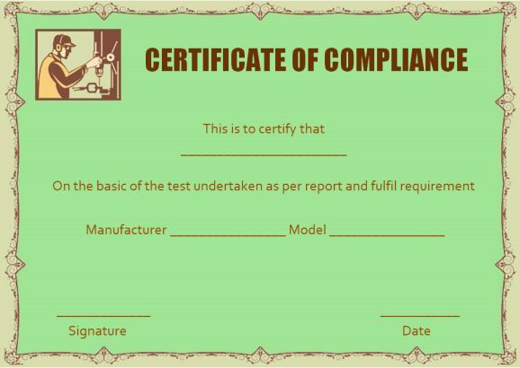 Waterproofing certificate of compliance template certificate of waterproofing certificate of compliance template yelopaper Choice Image