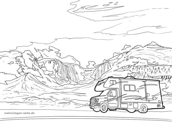 Malvorlage Wohnmobil Rv Camping Fahrzeuge Malvorlagen Ausmalbilder Ausmalen