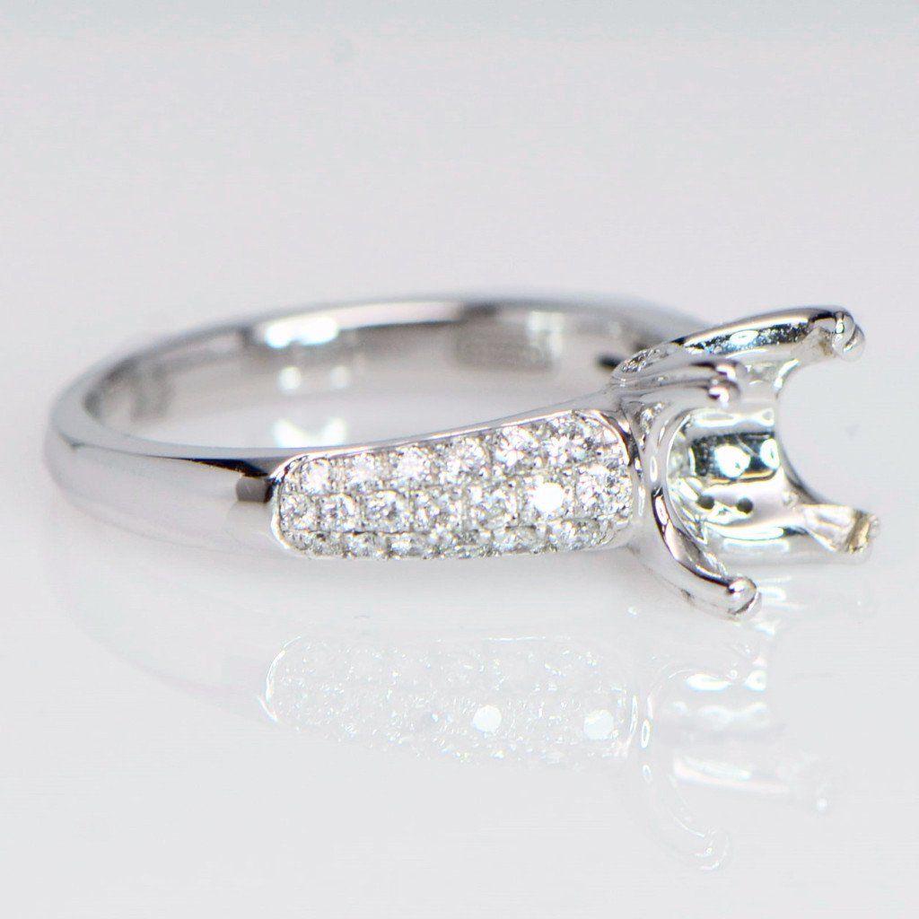"""Lola"" Bright Pave Cut Diamond Engagement Ring"