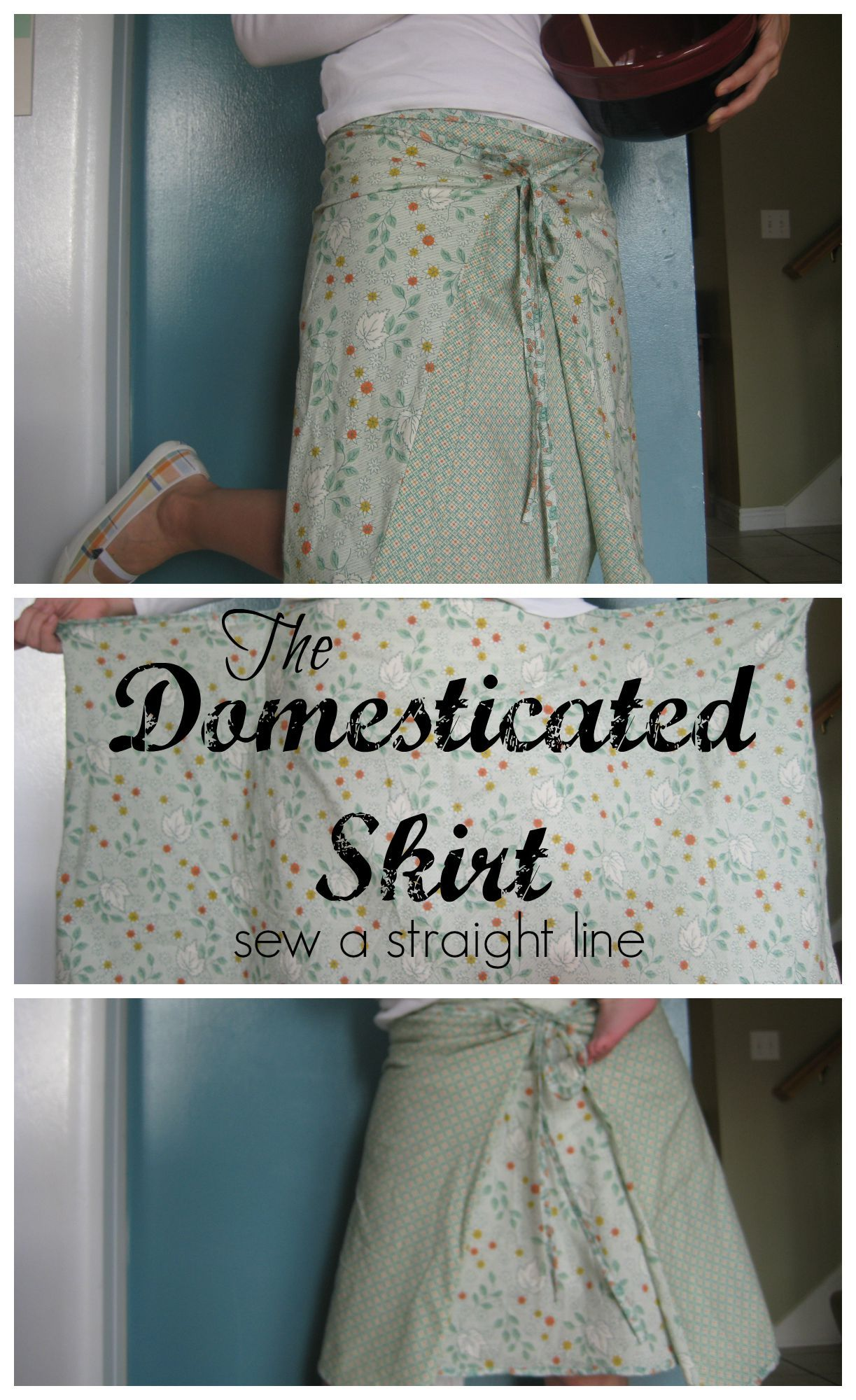 Tutorial for a super easy and quick skirt. Like a reversible wrap ...