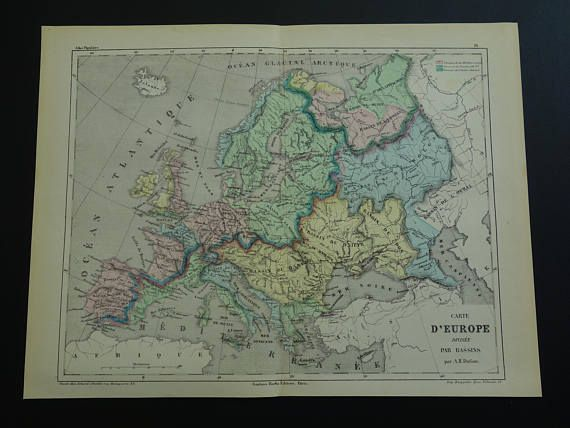 Europe old map of european river systems 1858 original antique europe old map of european river systems 1858 original antique gumiabroncs Gallery