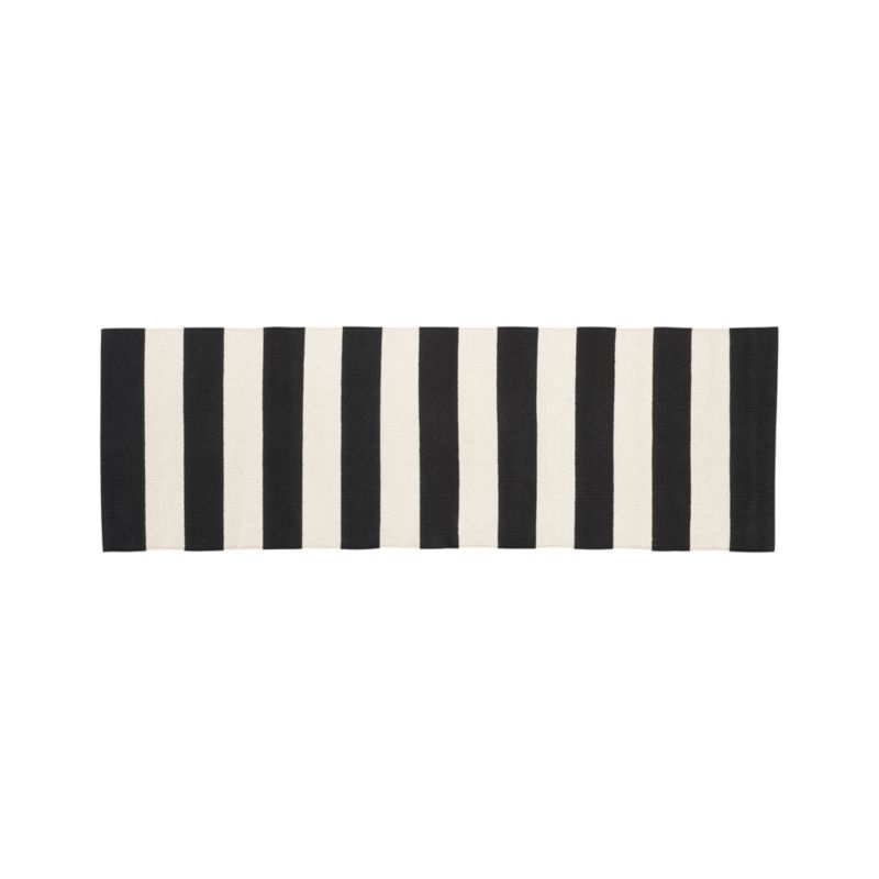 High Quality Broad Bands Of Black And Ivory Stretch Horizontally Across This Modern And  Sophisticated Cotton Rug Hand Great Ideas
