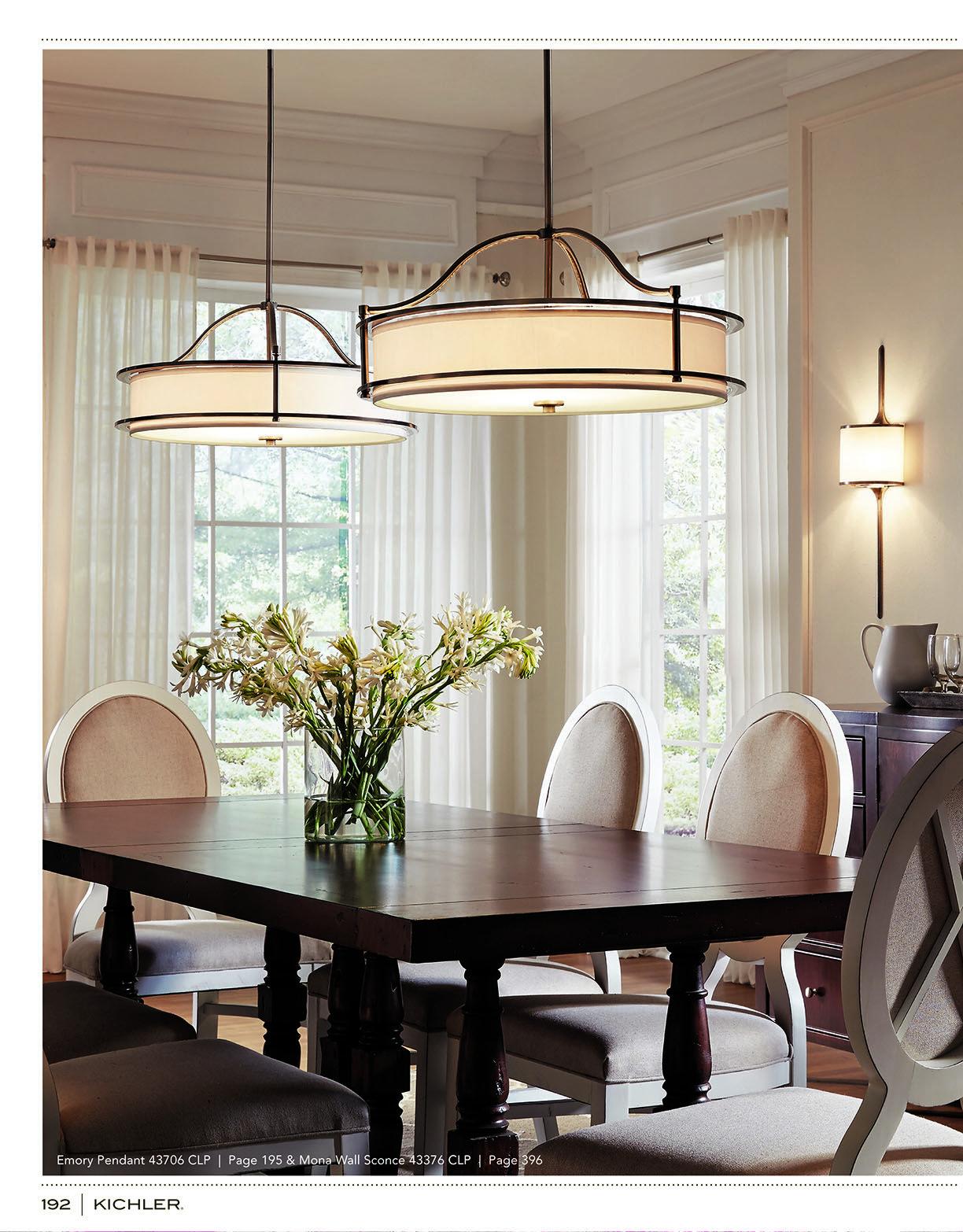 Kichler K116 Source Book Dining Room Light Fixtures