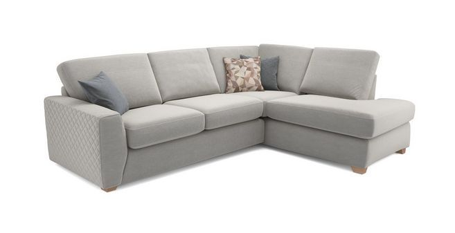 Astaire Left Hand Facing Arm Open End Corner Sofa Sherbet Dfs
