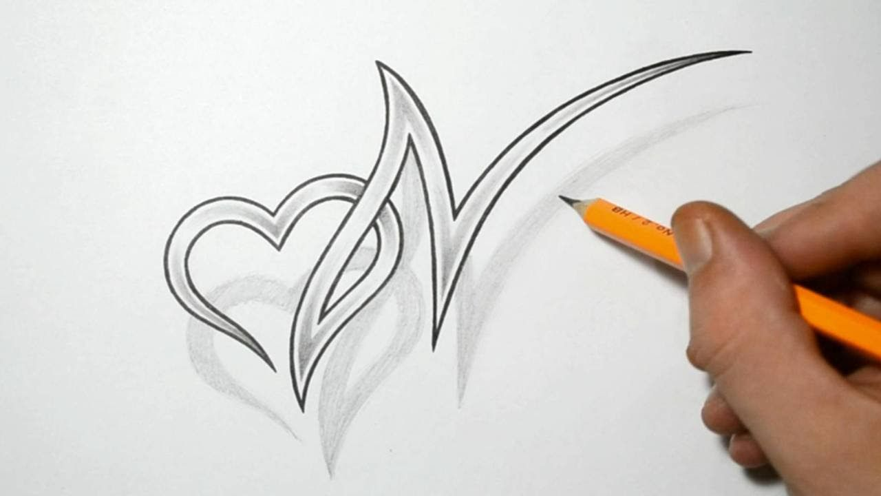 R K Name 3d Wallpaper Letter N And Heart Combined Tattoo Design Ideas For