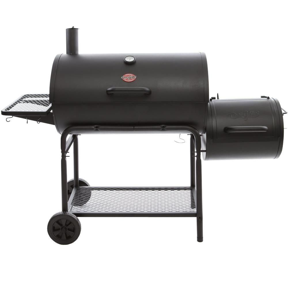 Chargriller smokin champ charcoal grill horizontal