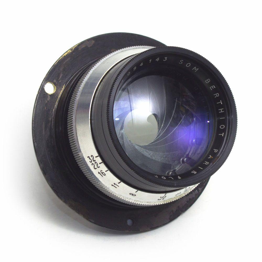 Som Berthiot 165mm F4 5 Flor Paris Large Format Wide Angle Lens Vintage Gc Rare Vintage Lenses Cameras For Sale Lenses