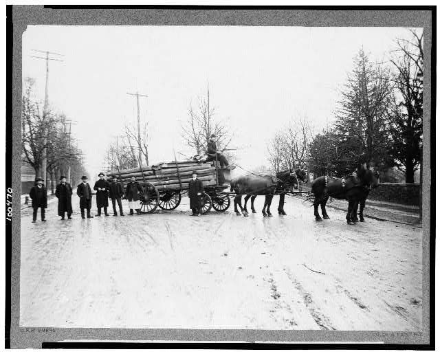 moving the original abe lincoln log cabin 1906 moving day