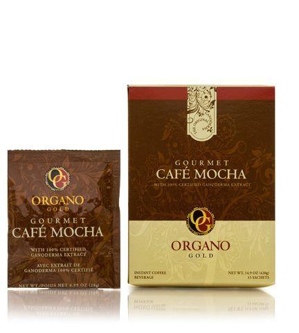 """Gourmet Mocha Il nostro caffè aromatico, unito al miglior cacao, ci consegna un vero e proprio """"dessert in tazza"""". Il Gourmet Mocha di OG unisce un dolce e ricco sapore di caffè con il Ganoderma Lucidum creando la perfetta bevanda da dopo cena."""
