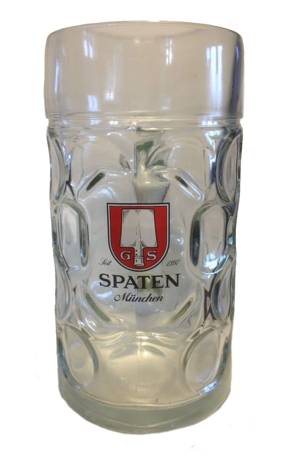 spaten chope verre de bi re 1 litre masskrug nouveau in ebay oktoberfest. Black Bedroom Furniture Sets. Home Design Ideas