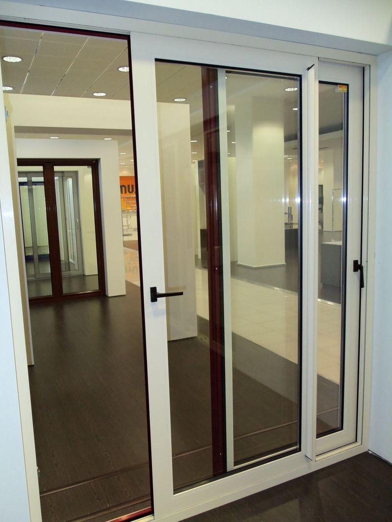 Sliding Interior Glass Doors White Sliding Aluminum Door With A