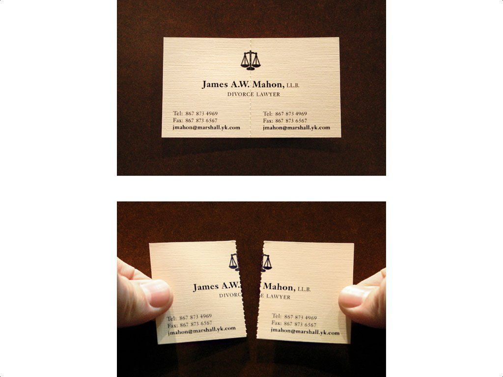 Divorce Lawyer. One of the most famous business cards on the net ...