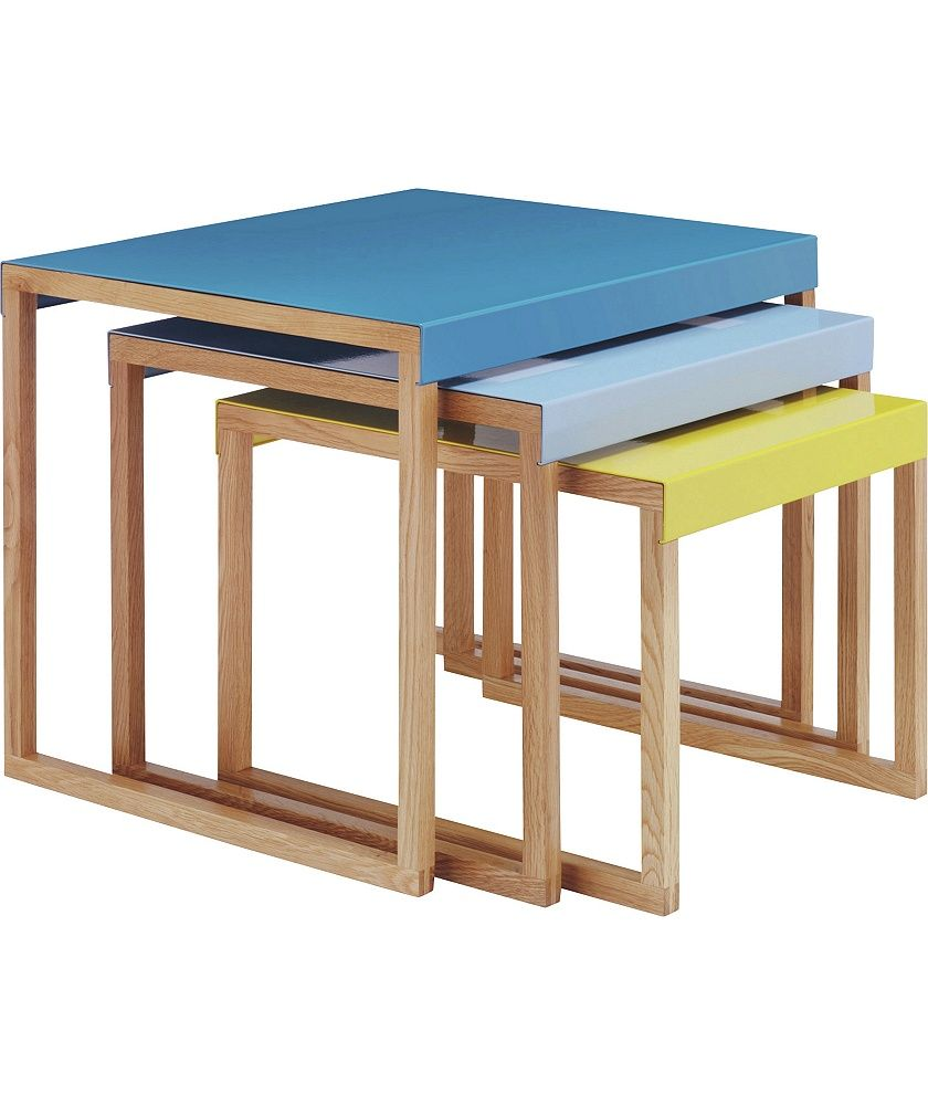Buy Habitat Kilo Blue And Yellow Nest Of 3 Tables At Argoscouk