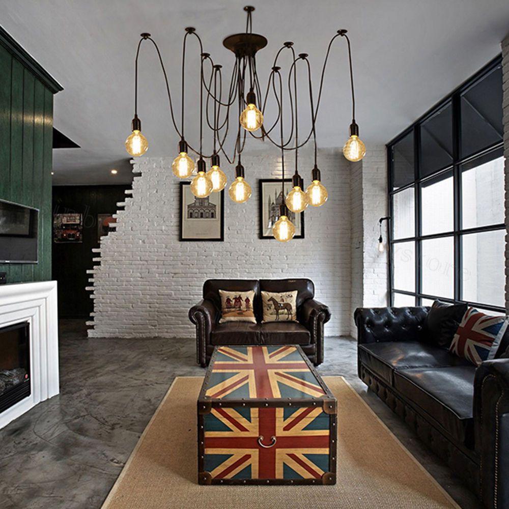 Retro Vintage Edison Industrial Style DIY Chandelier Pendant Light Ceiling  Lamps