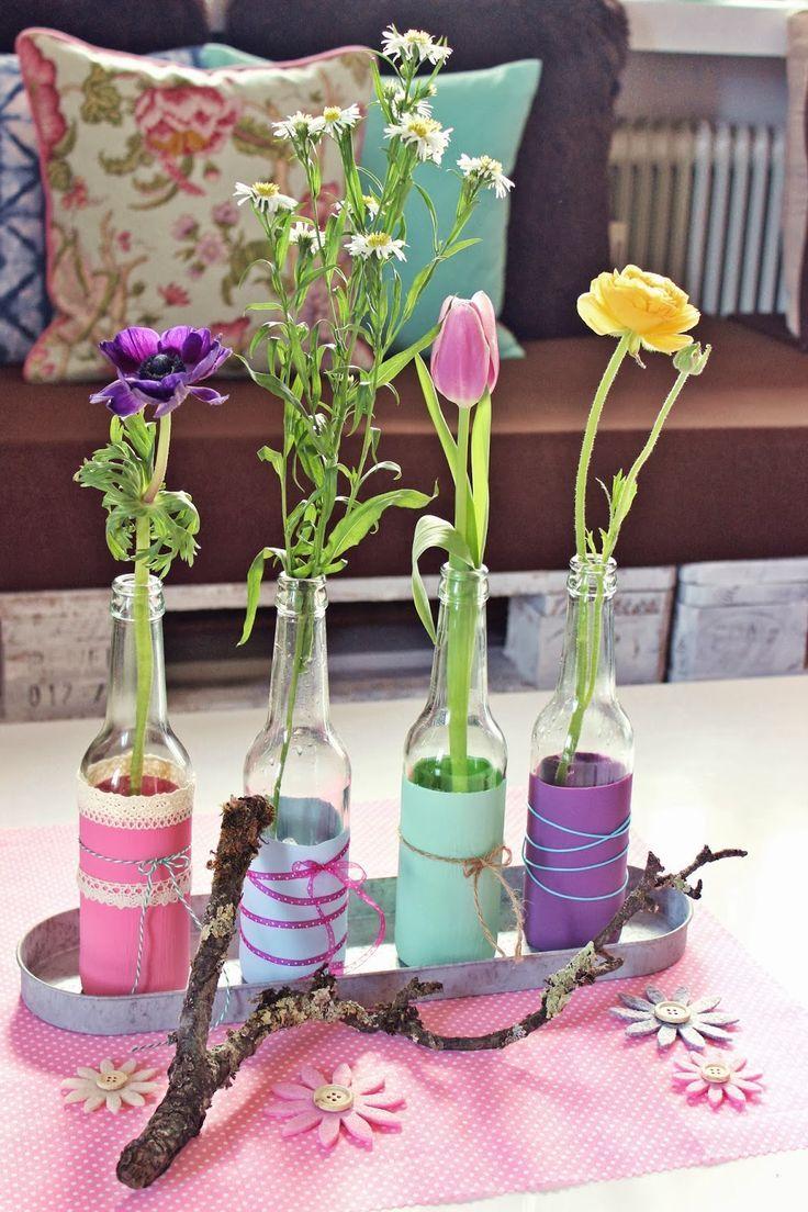 Tischdeko blumen einfach  liebelein-will, Hochzeitsblog - Blog, Hochzeit, Blumendeko ...