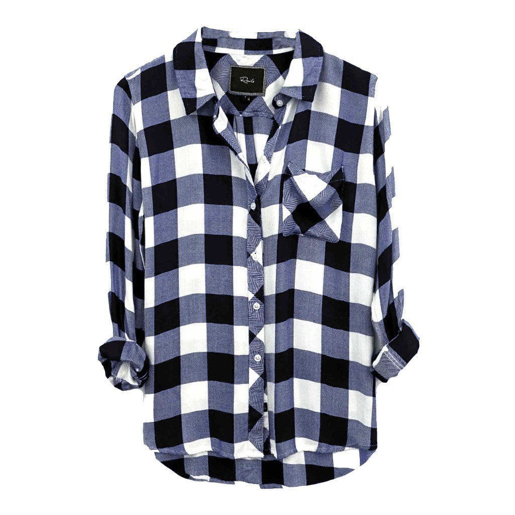 Navy blue flannel shirt womens  Hunter WhiteMidnight Check  Products  Pinterest  Flannels Navy