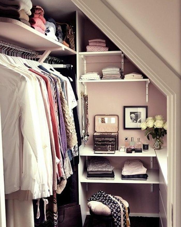 ▷1001+ idée pour un dressing sous pente gain de place | Bedrooms