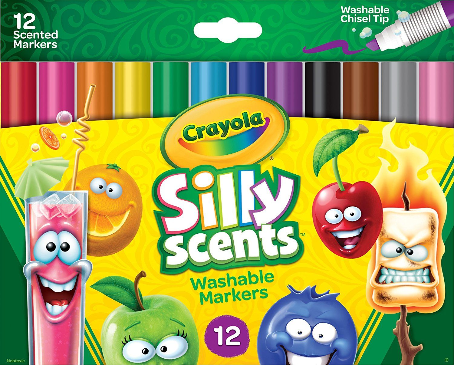 Crayola Silly Scents Washable Scented Markers 12 Count Pack Only 3 99 Lowest Price Become A Coupon Queen Washable Markers Crayola Gifts For Kids