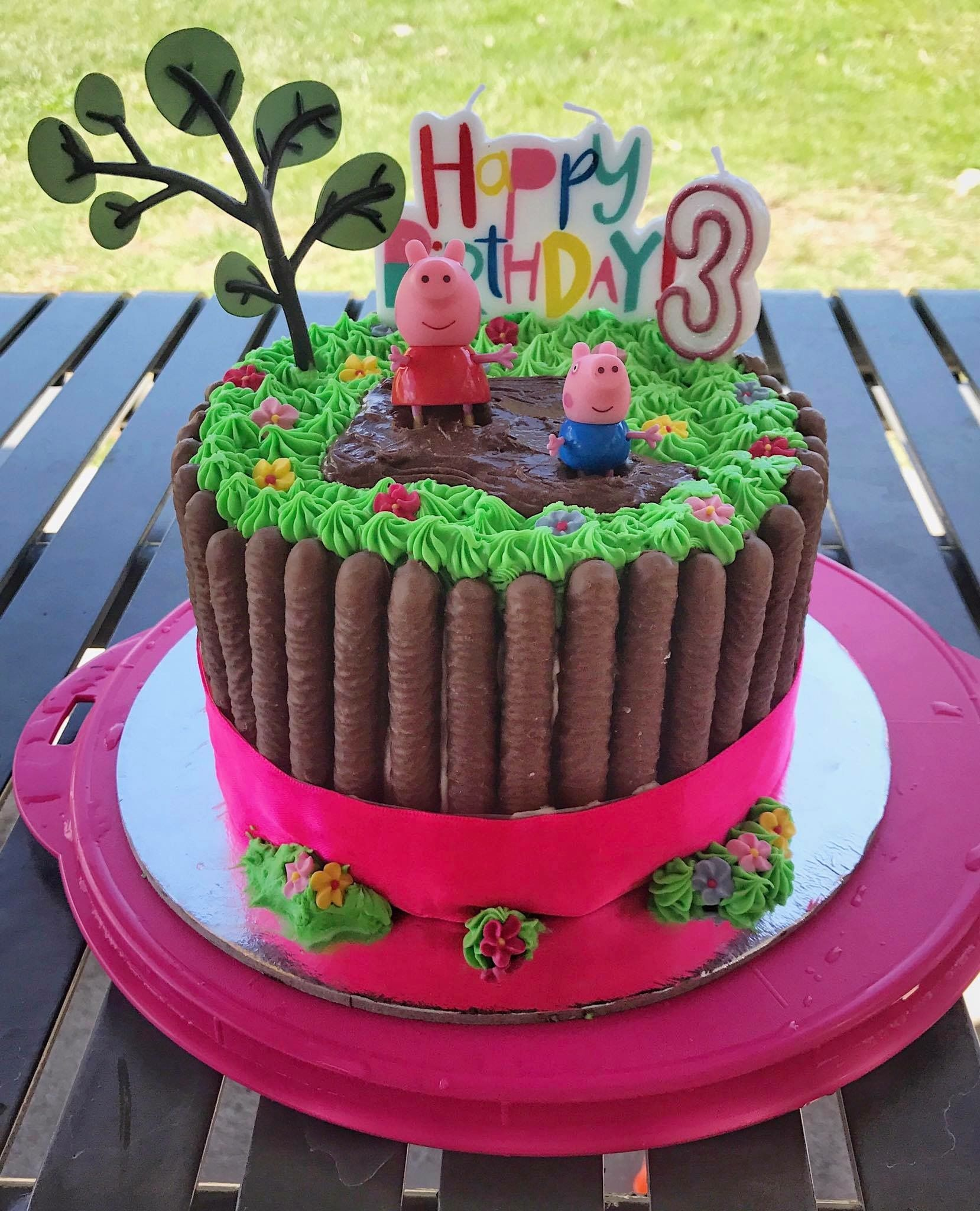 Karina Adams Party Mums Peppa Pig Cake Coles Mud Cake Hack