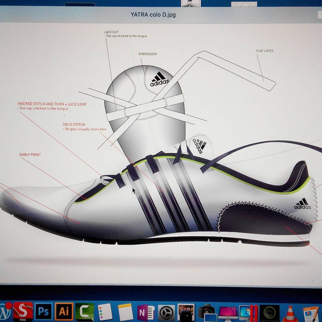 A render I did at Adidas Illustrator design and rendering