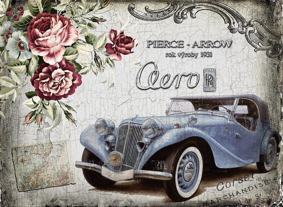 Открытки ретро с днем рождения автомобили, картинки