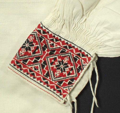 ANTIQUE Slovak Folk Costume Shirt man embroidered linen ethnic Spis ...