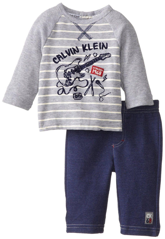 Amazon Com Calvin Klein Baby Boys Newborn Stripes Tee