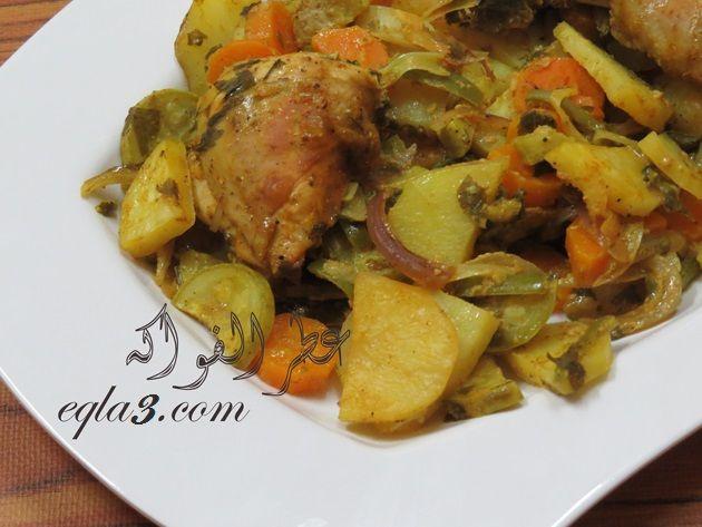 صينيه الخضار بالدجاج والزبادي Cooking Chicken Food