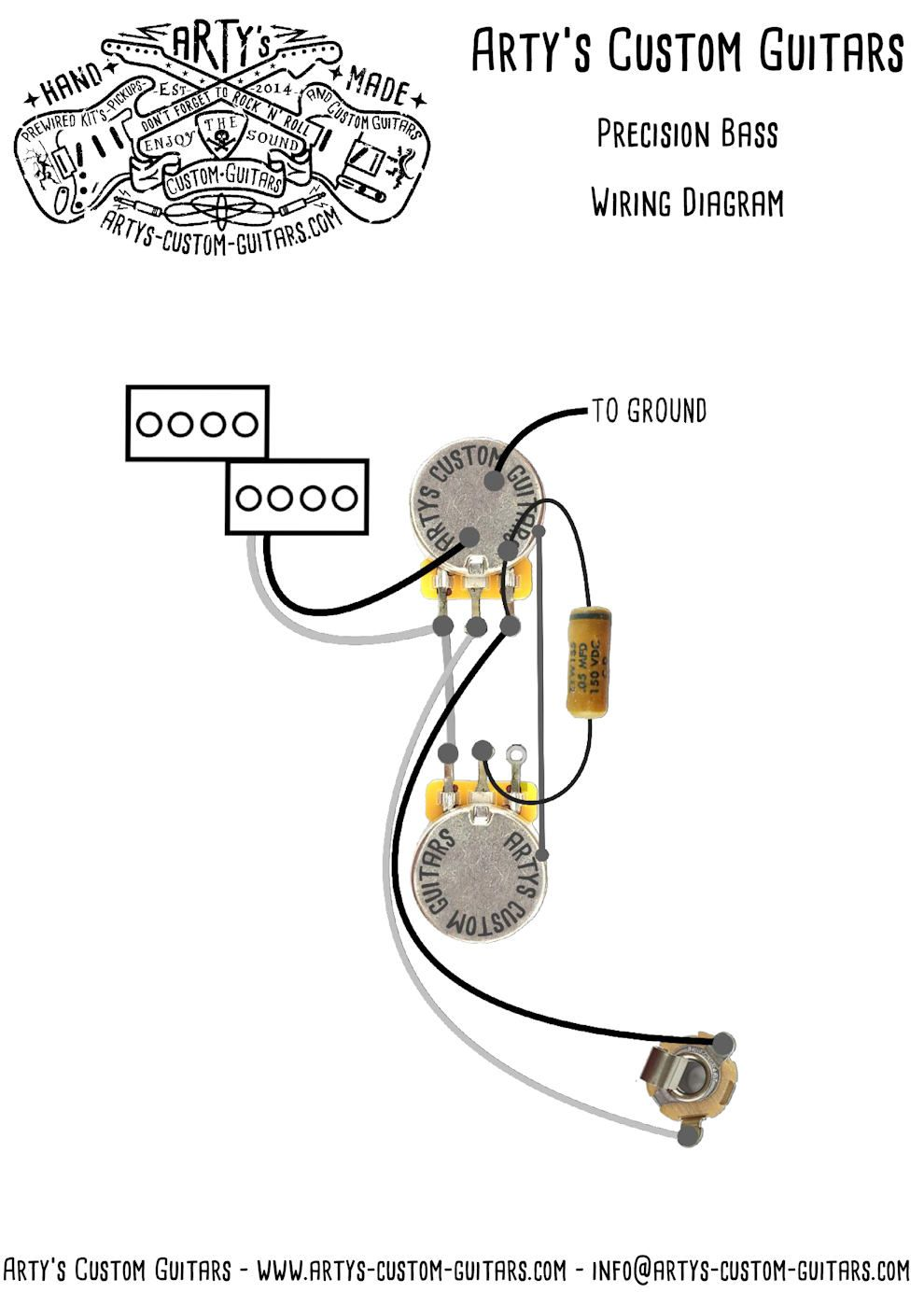 precision bass wiring diagram arty s custom guitars [ 990 x 1400 Pixel ]