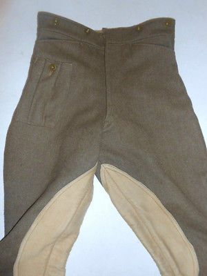 Vintage-WWII-BRITISH-Lewis-Bros-MOTORCYCLE-Dispatch-Uniform-PANTALOONS-Pants