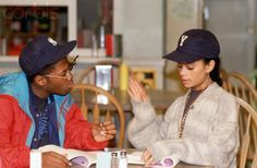 Denise (Lisa Bonet) and Dwayne Wayne (Kadeem Hardison) A Different World