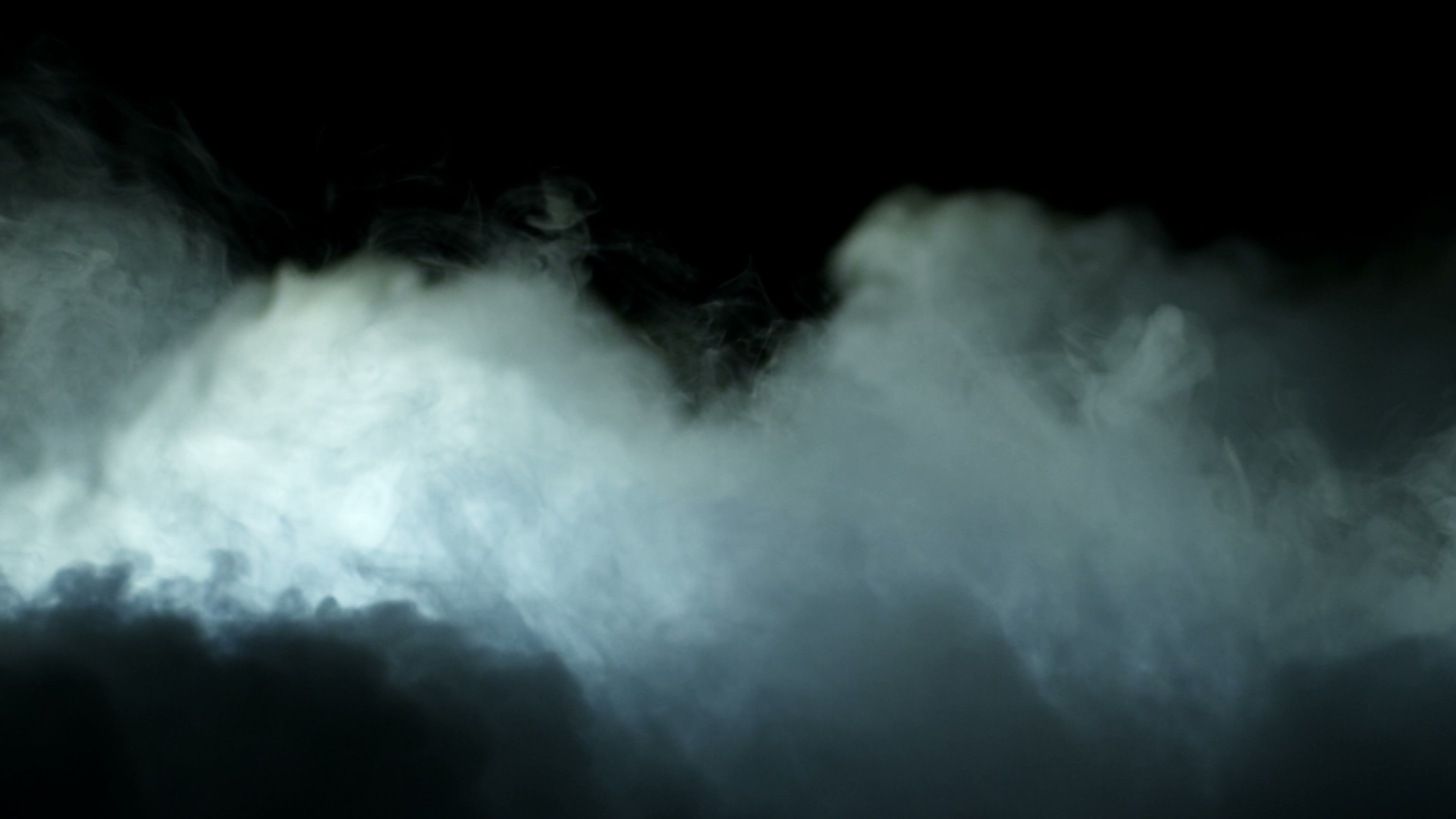 Realistic Dry Ice Smoke Clouds Fog Overlay Stock Footage
