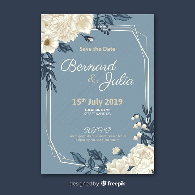 Download Flat Wedding Card Template For Free Wedding Cards Wedding Card Templates Wedding Invitation Cards