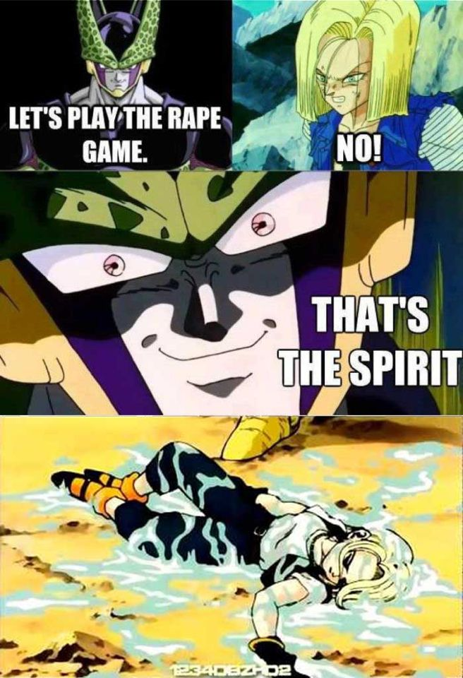 Rape Game With Cell Funny Moments Dragon Ball Z Dbz In This Moment