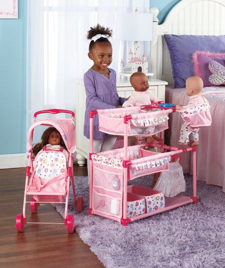 Baby Doll Play Center Or Tandem Stroller Doll House